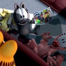 Odie, Nermal e Arlene in Garfield il supergatto