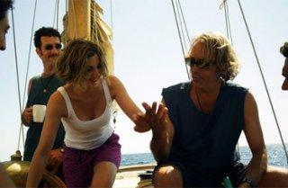 Paolo Mazzarelli, Elena Di Cioccio e Luca Ward in una scena del film Nauta