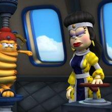 Vetvix prova a stritolare Garfield il supergatto