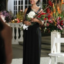 Gloria (Ellen Ross), l'ex-moglie di Langston in una scena dell'episodio Father Of The Bride di CSI: Scena del crimine