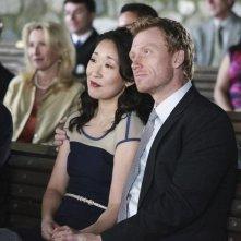 Kevin McKidd e Sandra Oh nell'episodio White Wedding di Grey's Anatomy
