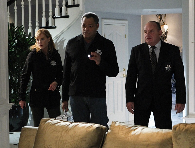 Marg Helgenberger Laurence Fishburne E Paul Guilfoyle Nell Episodio Father Of The Bride Di Csi Scena 204792
