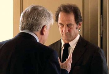 Alain Cavalier eVincent Lindon in una scena del film Pater