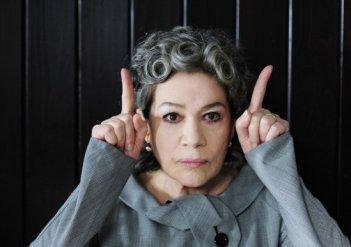 Hannelore Elsner, protagonista del film Das Blaue vom Himmel