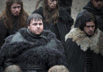 Kit Harington e John Bradley in una scena dell'episodio Your Win or You Die di Game of Thrones