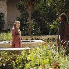 Lena Headey e Sean Bean in una scena dell'episodio Your Win or You Die di Game of Thrones