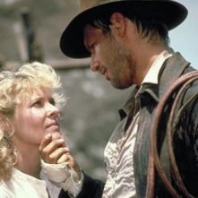 Harrison Ford e Kate Capshaw in una scena di Indiana Jones e il tempio maledetto