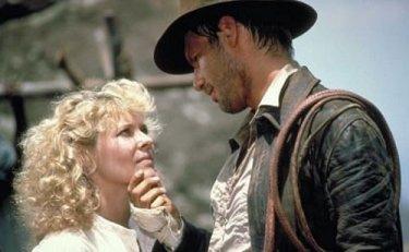Harrison Ford e Kate Capshaw in una scena di Indiana Jones e il tempio maledetto