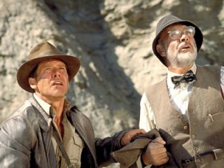 Harrison Ford  e Sean Connery in una scena di indiana Jones e l'ultima crociata