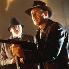 Sean Connery e Harrison Ford in una scena di indiana Jones e l'ultima crociata