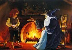 Un'immagine tratta dal film di animazione Il signore degli anelli di Ralph Bakshi