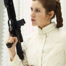 Carrie Fischer in una sequenza de l'Impero colpisce ancora