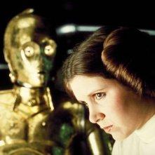 Carrie Fisher è Leia Organa in Guerre Stellari