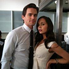 Eliza Dushku e Matt Bomer sul set della stagione 3 di White Collar