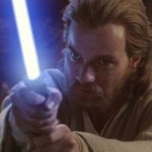 Ewan McGregor in una scena di Star Wars ep. II