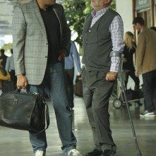 Langston (Laurence Fishburne) e Robbins (Robert David Hall) in: Cello And Goodbye di CSI: Scena del crimine