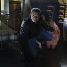 Laurence Fishburne difende Ellen Ross nell'episodio In A Dark, Dark House di CSI: Scena del crimine