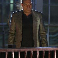 Laurence Fishburne in un momento dell'episodio Cello And Goodbye di CSI: Scena del crimine