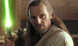 Liam Neeson è il maestro Jedi Qui-Gon Jin ne La minaccia fantasma
