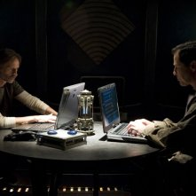 Robert Carlyle e French Stewart nell'episodio Alliances di Stargate Universe