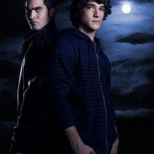 Tyler Posey e Tyler Hoechlin in una foto promozionale della serie Teen Wolf