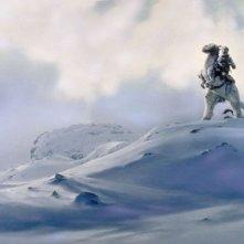 Una scena ambientata sul pianeta Hoth de L'impero colpisce ancora