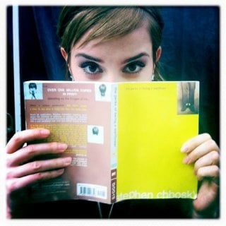 Emma Watson sul set di The Perks of Being a Wallflower