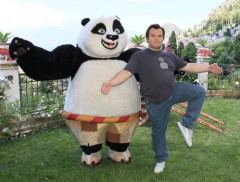 Kung Fu Panda 2: panda-monio a Taormina con Jack Black