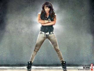 Laurieann Gibson in una immagine promozionale del programma TV The Dance Scene