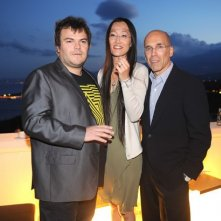 Taormina 2011: Jack Black presenta Kung Fu Panda 2 con jeffrey katzenberg e Jennifer Yuh