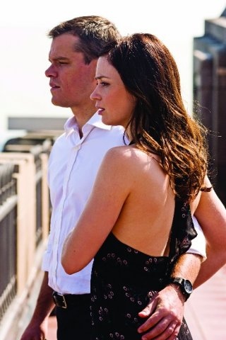 Emily Blunt con Matt Damon nel thriller The Adjustment Bureau