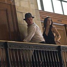 Emily Blunt e Matt Damon in una sequenza del thriller The Adjustment Bureau
