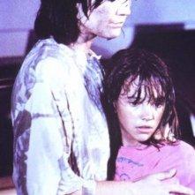 La piccola Asia Argento in una scena di Demoni 2.