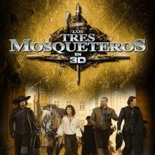 Poster spagnolo per I tre moschetieri in 3D