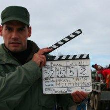 Cristián de la Fuente sul set di Dawson, Island 10