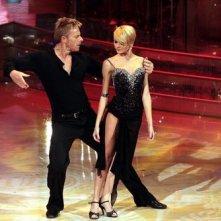 Kaspar Capparoni con Yulia Musikinha durante la settima edizione di Ballando con le Stelle