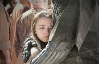 Maisie Williams in una scena dell'episodio Baelor di Game of Thrones