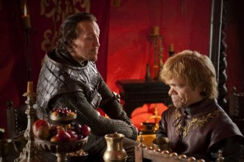 Peter Dinklage in una scena dell'episodio Baelor di Game of Thrones