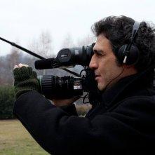 Il regista Giovanni Piperno sul set del documentario Il pezzo mancante