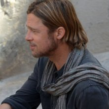 Brad Pitt sul set del film World War Z, a Malta