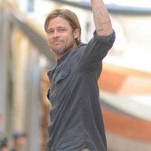 Brad Pitt sul set di World War Z, a Malta