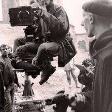Franco Pistoni con Annaud sul set de Il Nome della Rosa