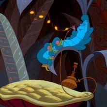 Il Brucaliffo in una scena di Alice nel paese delle meraviglie