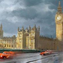 Cars 2: il concept art della scena a Londra