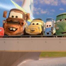Cars 2: Saetta McQueen, Cricchetto,Luigi, Guido, Fillmore e Sarge