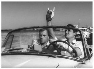 Jean-Louis Trintignant e Vittorio Gassman ne Il sorpasso