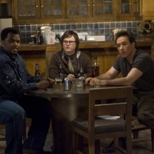 John Cusack, Clark Duke e Craig Robinson nel film Hot Tub Time Machine