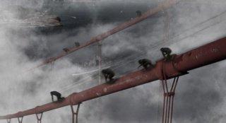 L'alba del pianeta delle scimmie: una cupa sequenza del film.