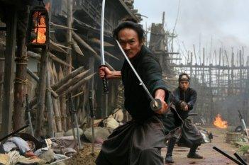 Una scena d'azione dal film 13 Assassini