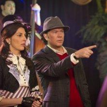 Timothy Hutton e Gina Bellman nell'episodio 'The 10 lil Gritters Job' di Leverage